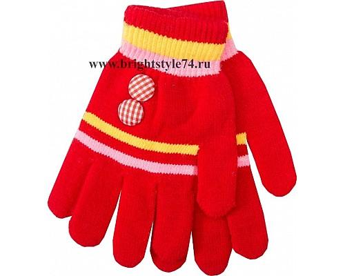 Перчатки Пуговка, красные