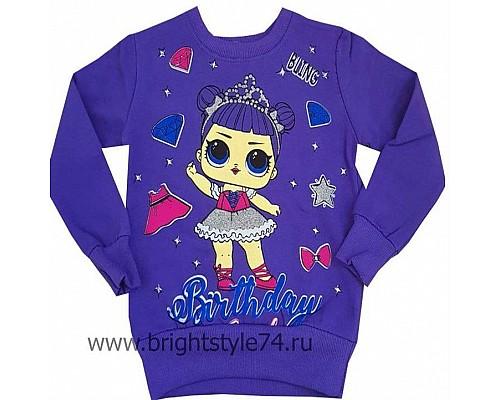 Кофточка с куколкой LOL, фиолетовая