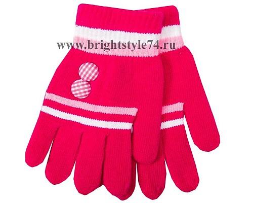 Перчатки Пуговка, розовые