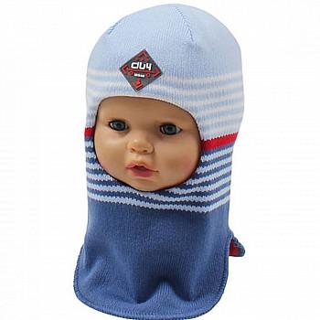 Шлем-капор для мальчика, полоска