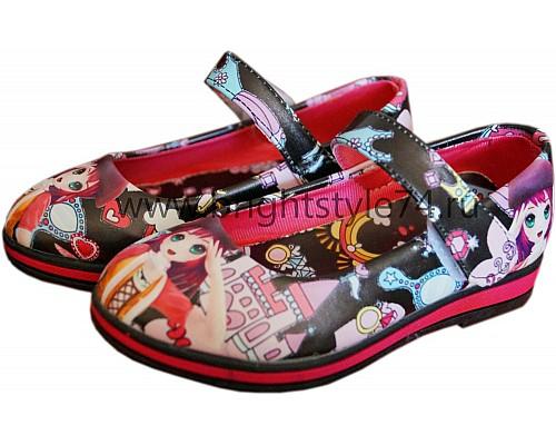 Туфли для девочки, с рисунком