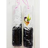 Резиночки для плетения черно-белый, в тубусе