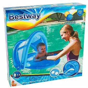 Надувной круг для плавания,с навесом