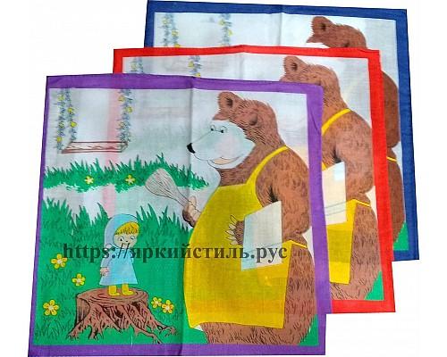 Носовой платок Маша и медведь