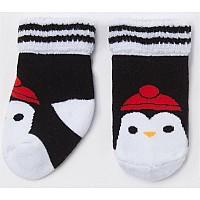 """Носки махровые Крошка Я """"Пингвинчик"""", чёрный"""