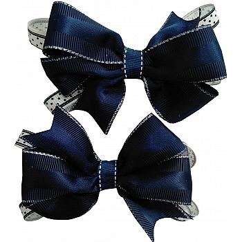 Школьный бантик для волос, темный синий