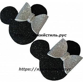 Заколка Микки маус, с серебряным бантиком