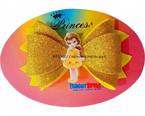 Заколка бантик Принцесса, золото