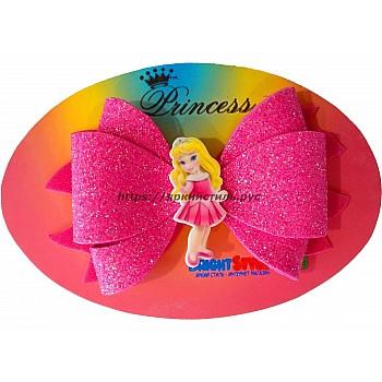 Заколка бантик Принцесса, розовый