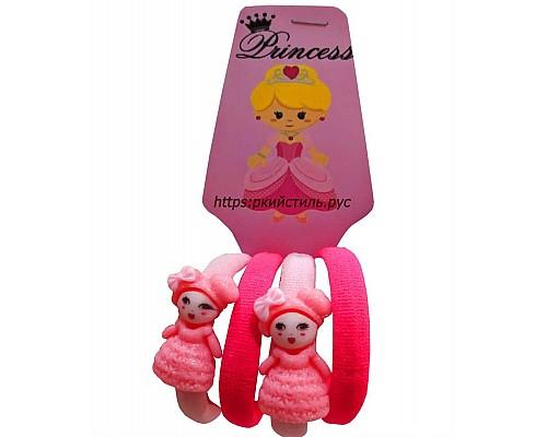 Набор резиночек, куколка, розовый