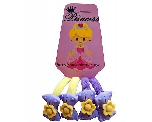 Набор резиночек, бантики с цветочком, микс