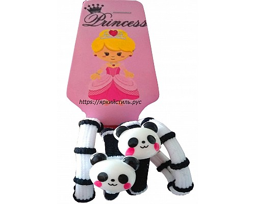 Набор резиночек,Панда