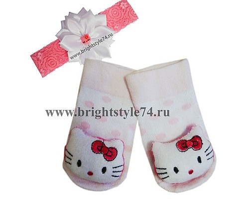 Носочки Китти с ободком