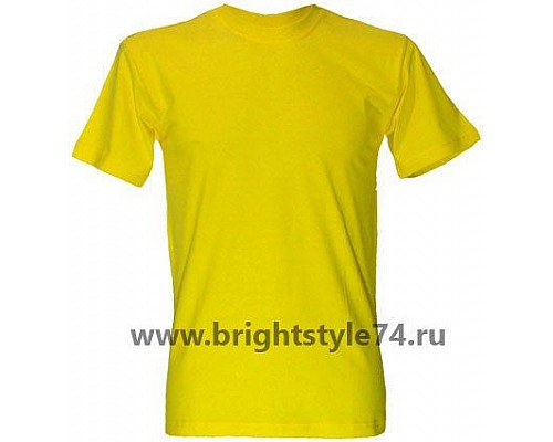 Футболка однотонная, желтая