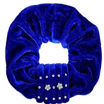 """Резинка для волос """"Орбита"""", темный синий бархат"""